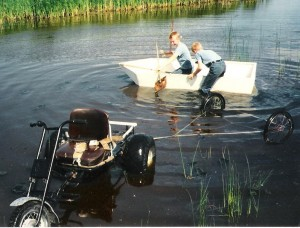 Home built boat and go kart