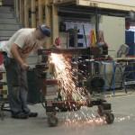 Start of steel frame