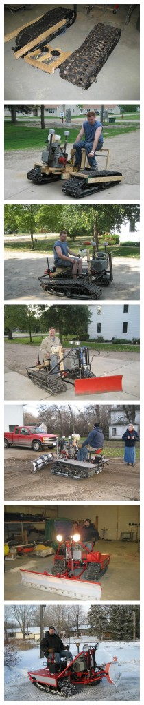 Miller Snow Dozer vertical collage