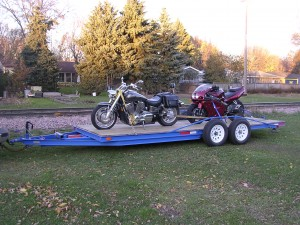 DIY double axle steel trailer with tilt