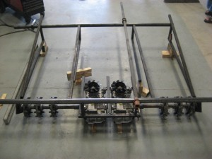 Steel frame for snow dozer
