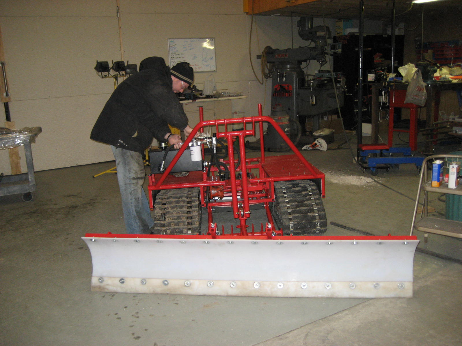 Assembling the Snow Dozer
