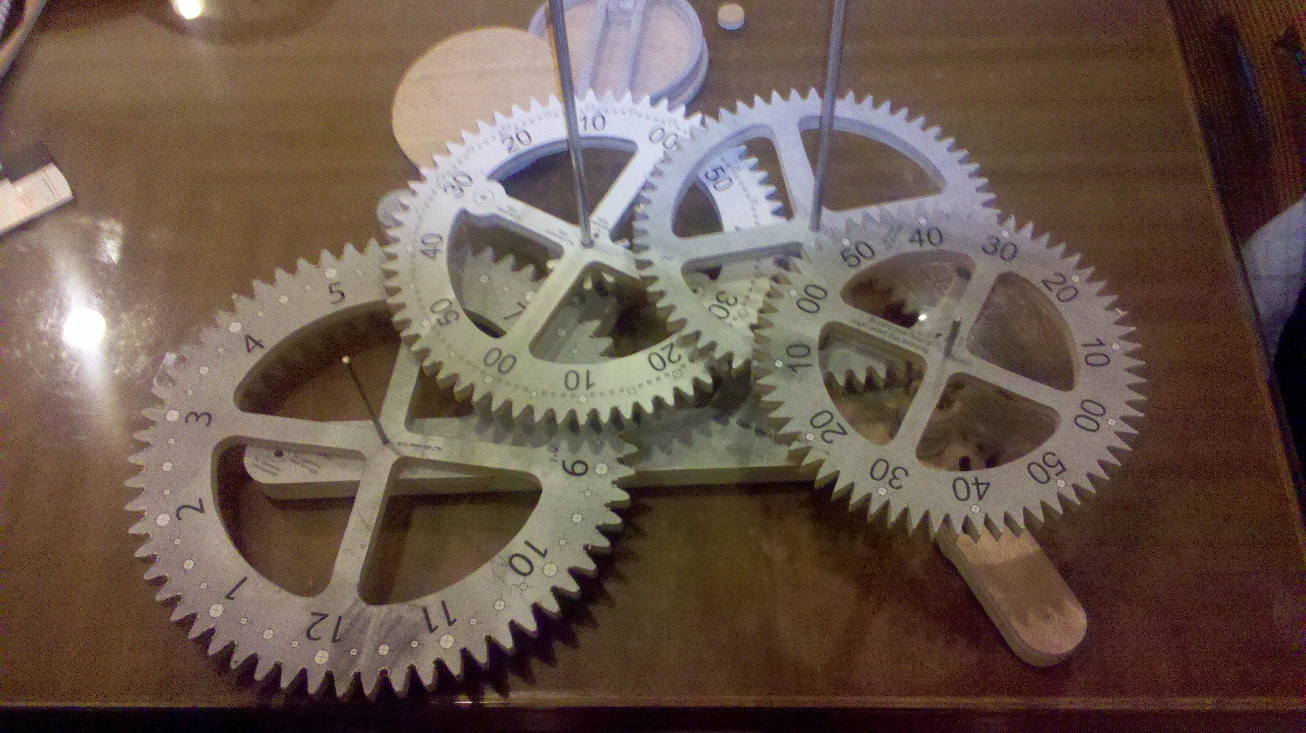 Wood Gear Clock Project Kustoms By Kent