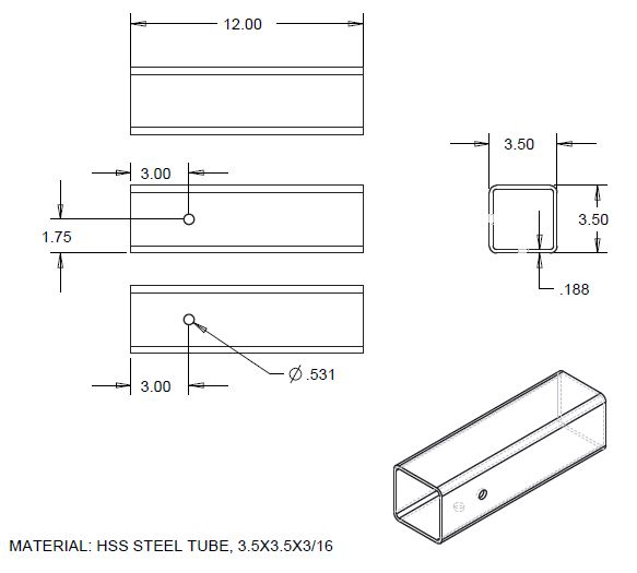 Sample of a parts drawing template